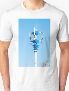 Blue and white Mobile Phone Communications Tower  T-Shirt