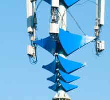 Blue and white Mobile Phone Communications Tower  Sticker