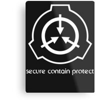 Secure Contain Protect Metal Print
