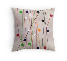 MUCH MORE LINES Throw Pillow