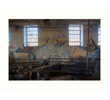Mural in an abandoned hospital... Art Print