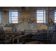 Mural in an abandoned hospital... Photographic Print
