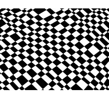 Chequered Small Pattern Photographic Print