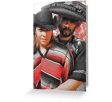 amor a la mexicana Greeting Card