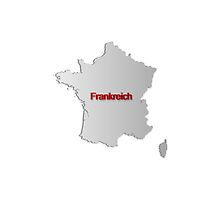 Map of France 3 by gruml