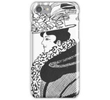 Vintage black and white victorian elegant lady  iPhone Case/Skin
