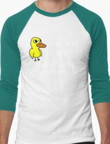Duck Song Funny Geek Nerd Men's Baseball ¾ T-Shirt