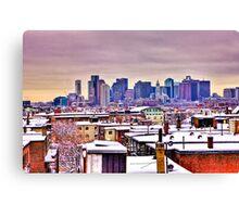 Boston Winter Snow Canvas Print