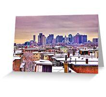Boston Winter Snow Greeting Card