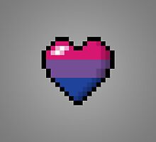Bisexual Pixel Heart by LiveLoudGraphic