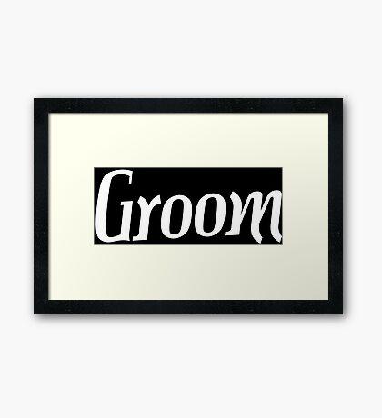 Groom Funny Geek Nerd Framed Print