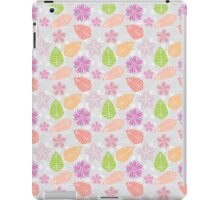 Vintage girly pink orange abstract floral pattern  iPad Case/Skin