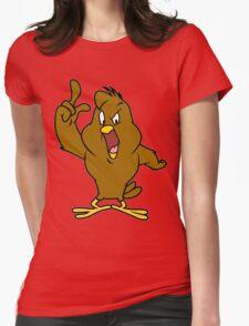 Henery hawk yelling Funny Geek Nerd Womens Fitted T-Shirt