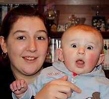 Granddaughter Sarah and Great Grandson Lewis by AnnDixon