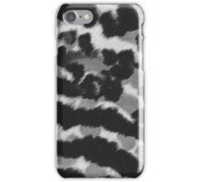 Vintage black white watercolor animal print iPhone Case/Skin