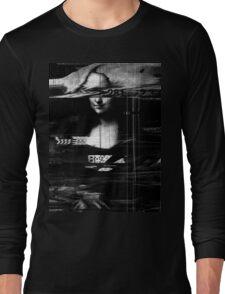 Mona Lisa Glitch Long Sleeve T-Shirt
