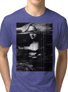 Mona Lisa Glitch Tri-blend T-Shirt