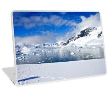 Icebergs and mountains of Cuverville Island near Antarctic Peninsula Laptop Skin