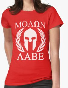 Molon Labe Grunge Spartan Funny Geek Nerd Womens Fitted T-Shirt
