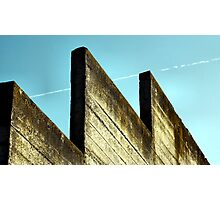 Mossy Wall and Contrail Photographic Print