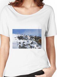 Gentoo penguins (Pygoscelis papua). Antarctica Women's Relaxed Fit T-Shirt
