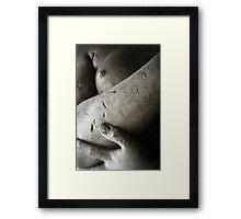 Hand, forearm, breast Framed Print