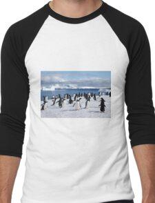 Gentoo penguins (Pygoscelis papua). Antarctica Men's Baseball ¾ T-Shirt