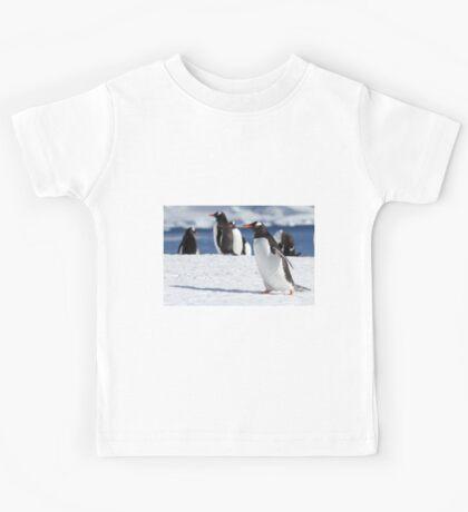 Gentoo penguins (Pygoscelis papua). Antarctica Kids Tee