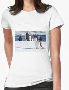Gentoo penguins (Pygoscelis papua). Antarctica Womens Fitted T-Shirt