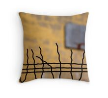 fence with basket france Throw Pillow