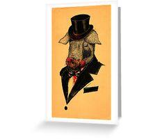Mr. P I G Greeting Card