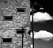 windows and clouds huddersfield by Jean Bashford