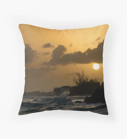 Barbados Sunset Throw Pillow