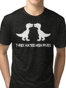 Style men's basic dark Funny Geek Nerd Tri-blend T-Shirt