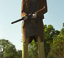 Ned Kelly - Maryborough, Queensland by Bev Pascoe