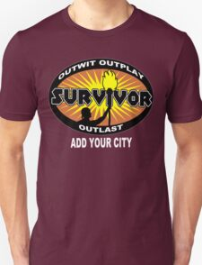 Survivor add your city Funny Geek Nerd T-Shirt