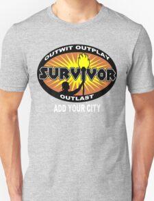 Survivor add your city Funny Geek Nerd T-Shirt