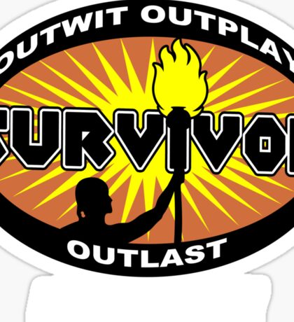 Survivor add your city Funny Geek Nerd Sticker