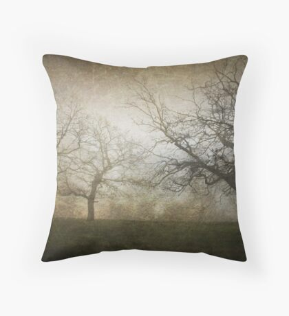 Ghostly Trees, Textured Throw Pillow