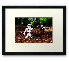 """Keep your damn filthy bones outta my mouth!"" Framed Print"