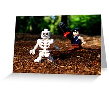 """Keep your damn filthy bones outta my mouth!"" Greeting Card"