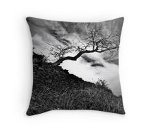 tree and wall royd edge meltham Throw Pillow
