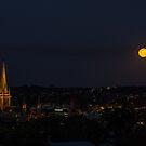 Moon rise over Bendigo by Joel Bramley