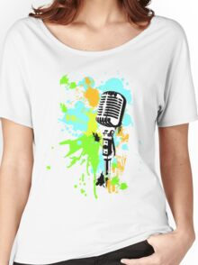 Old Skool Microphone Women's Relaxed Fit T-Shirt