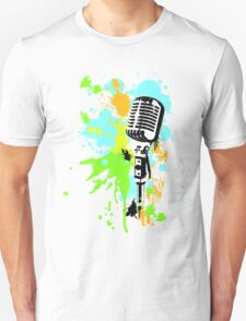 Old Skool Microphone Unisex T-Shirt