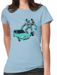 Nissan Micra Transformer Womens Fitted T-Shirt