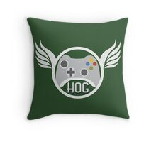 Head of Gaming Green Throw Pillow
