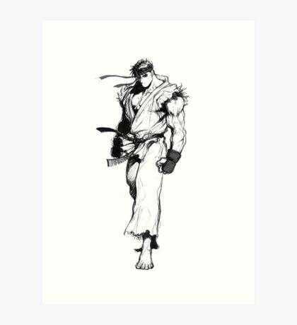 Ryu Portrait Art Print