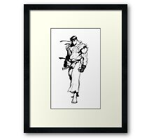 Ryu Portrait Framed Print