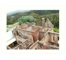 Mountain Ruins Art Print